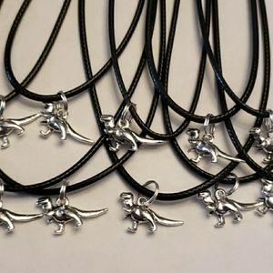 DINOSAUR T-REX Set of 10  Party Favors Necklaces